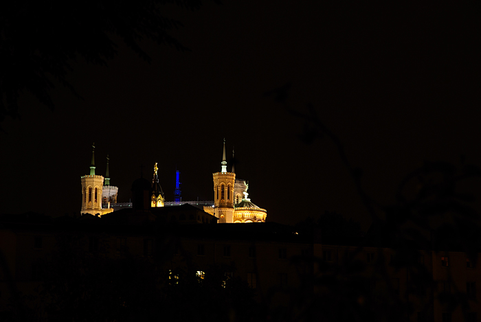 Lyon, Fourviere basilica by night (courtesy J.-M. Muller)