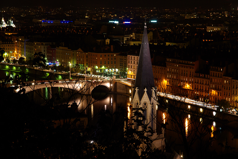 Lyon, St Georges area by night (courtesy J.-M. Muller)